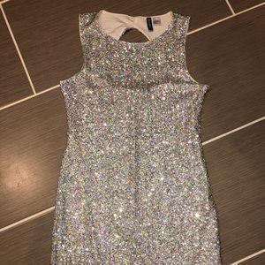 Divided bling dress
